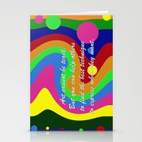 teacher Stationery Cards featuring art teacher by Maria Julia Bastias