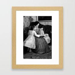 victorian comfort Framed Art Print