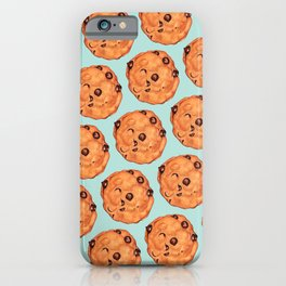 Cookies Pattern - Blue iPhone Case