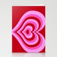powerpuff girls Stationery Cards featuring powerpuff hearts by tukylampkin
