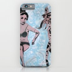 Pinup Girls on a Damask Slim Case iPhone 6s