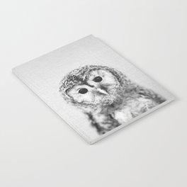 Baby Owl - Black & White Notebook