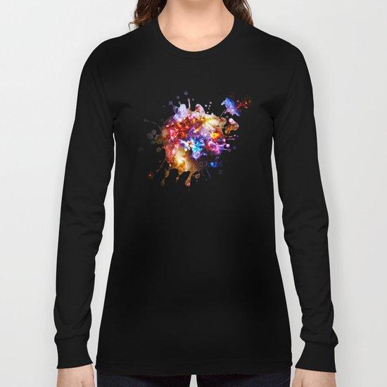 Abstract Galaxy Splatter Long Sleeve T-shirt
