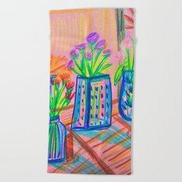 Flowers at Dawn Beach Towel