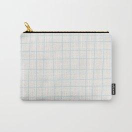 Modern minimalist ivory blush blue geometrical Carry-All Pouch