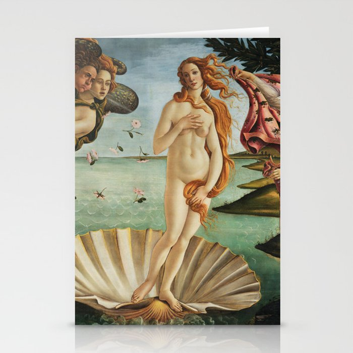 The Birth of Venus by Sandro Botticelli, 1445 Stationery Cards