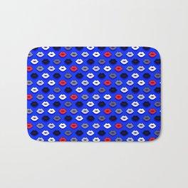 Lips on Ultramarine Pattern Bath Mat