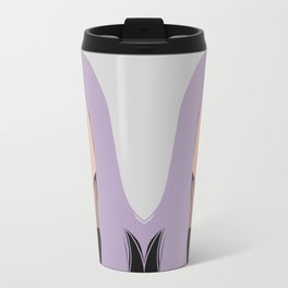 Harlow - portrait of a woman with purple hair Travel Mug