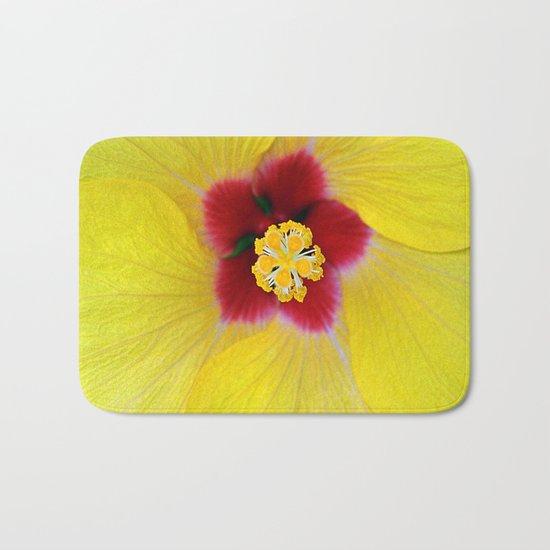 Yellow flower ## Bath Mat