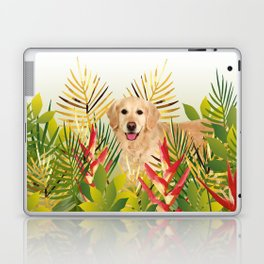 Golden Retriever Dog Garden Laptop & iPad Skin