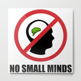 No Small Minds Metal Print