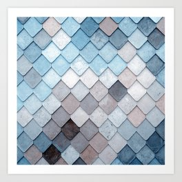 blue pattern Art Print