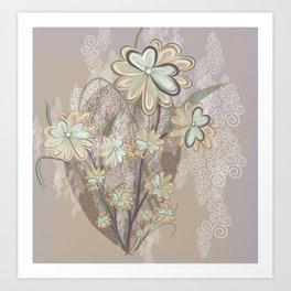 Sea Flower Art Print