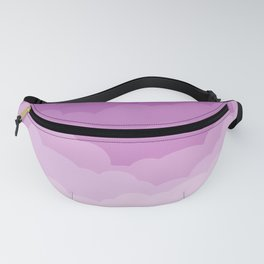 Lilac Gradient Clouds Fanny Pack