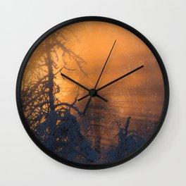 Winter Sunlight in Fairbanks Alaska Wall Clock