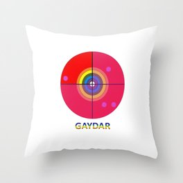 Gaydar Throw Pillow
