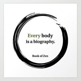 Motivational Life and Body quote Art Print
