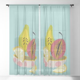 Fruit Bowl Sheer Curtain
