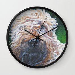 Soft-coated Wheaten Terrier from an original painting by L.A.Shepard Wall Clock