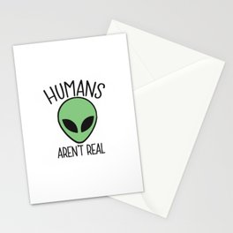 alien humans Stationery Cards