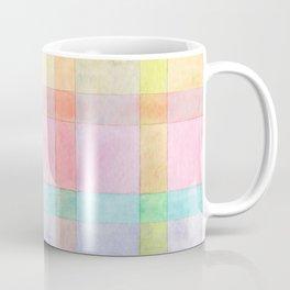 Pastel colored Watercolors Check Pattern Coffee Mug