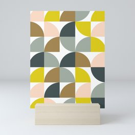 Abstract Geometrical Design in Soft Colors Mini Art Print
