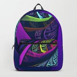 An UltraViolet Black Light Rainbow of Glass Shards Backpack