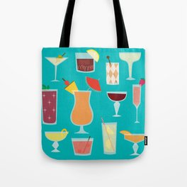 Retro Cocktails Tote Bag