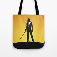 kill bill Tote Bags featuring Kill Bill by Nick Kemp