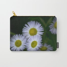 White Wildflowers Carry-All Pouch