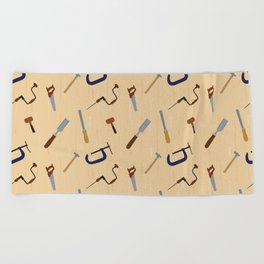 Wood shop Beach Towel