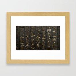 EGYPTIAN--HIERO Framed Art Print