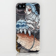 Absolem the Blue Caterpillar art print iPhone (5, 5s) Slim Case
