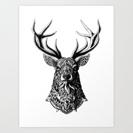 Ornate Buck Art Print