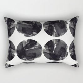 minimal brush stroke geometrical pattern Rectangular Pillow