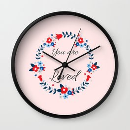 You are so loved Affirmation Wall Clock
