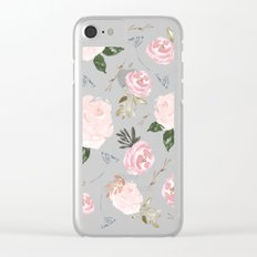 Floral Blossom - Muted Clear iPhone Case