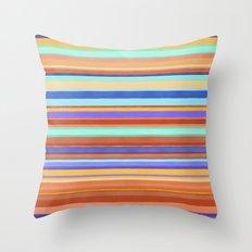 Tropical Stripes Throw Pillow
