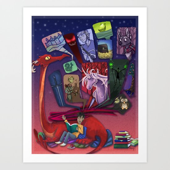 Tales From Home Art Print