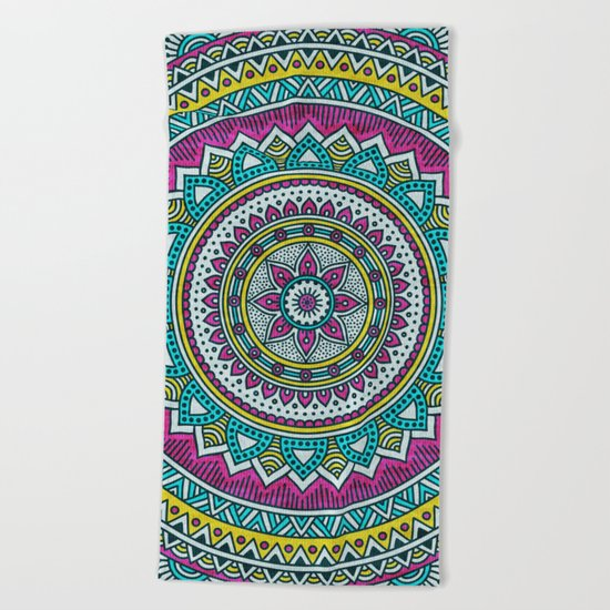Hippie mandala 31 Beach Towel
