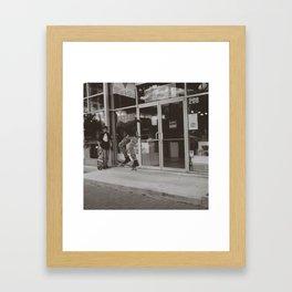 Kids Skating Framed Art Print
