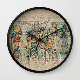 Egyptian Gods on canvas Wall Clock