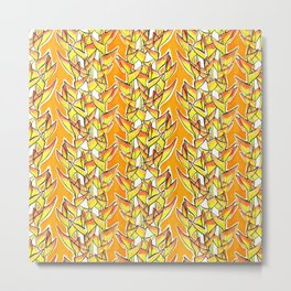 Heliconia Rostrata / Lobster Claw, yellow, orange  & white, Metal Print