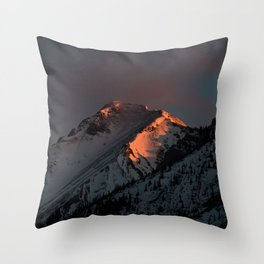 Early Morning Mountain Sunrise Throw Pillow