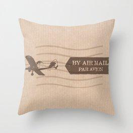 Par Avion Throw Pillow