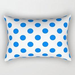 Blue Polka Dots Rectangular Pillow