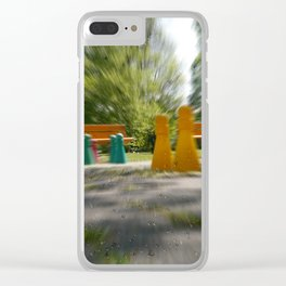 Raindrop play Clear iPhone Case