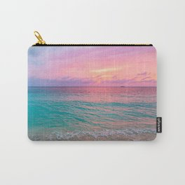 Aerial Photography Beautiful: Turquoise Sunset Relaxing, Peaceful, Coastal Seashore Carry-All Pouch