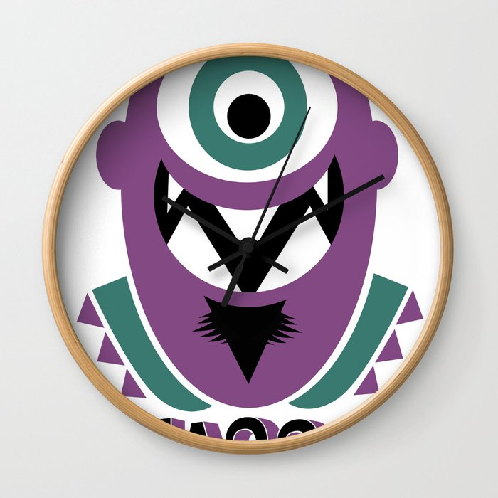 One eye open. Wall Clock
