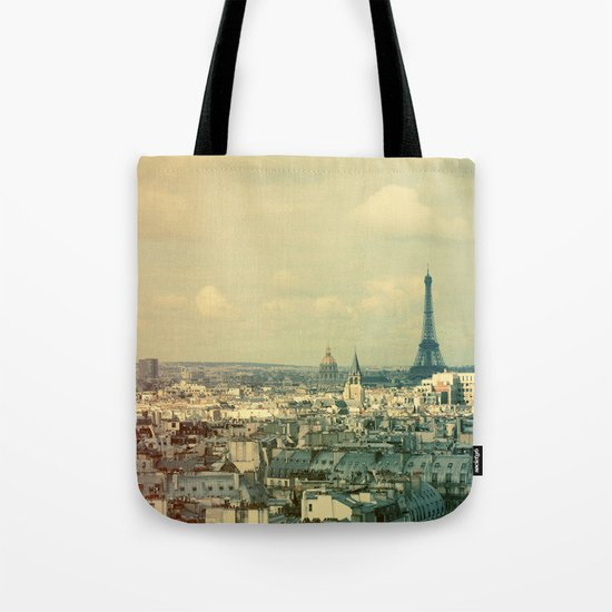 Pale Paris Tote Bag
